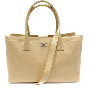 Chanel Cerf Tote Nude Beige Leather M